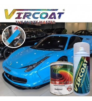 Vircoat Automotive Paint Basecoat/ Car Motor Body Paint- Arovana Solid Blue 1 Ltr
