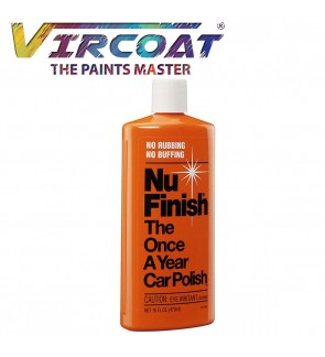 Nu-Finish Liquid Polish 16 oz for Cars, Perfect Kit for Fiberglass Boats, Motorcycles and Various Appliances