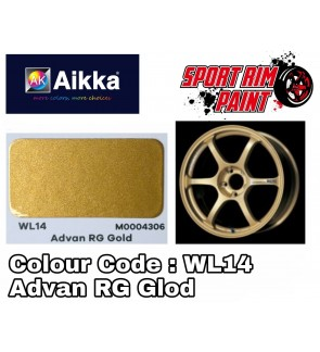 AIKKA Sport Rim Paint / VIRCOAT Sport Rim / Motor Car Paint Aerosol Spray WL14 ADVAN RG GLOD